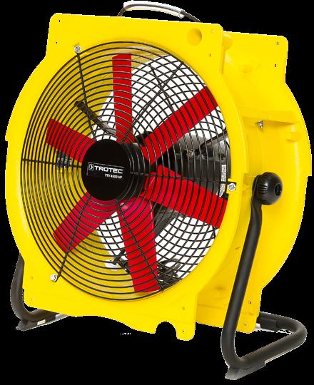 Zur Bautrocknung werden spezielle Ventilatoren eingesetzt